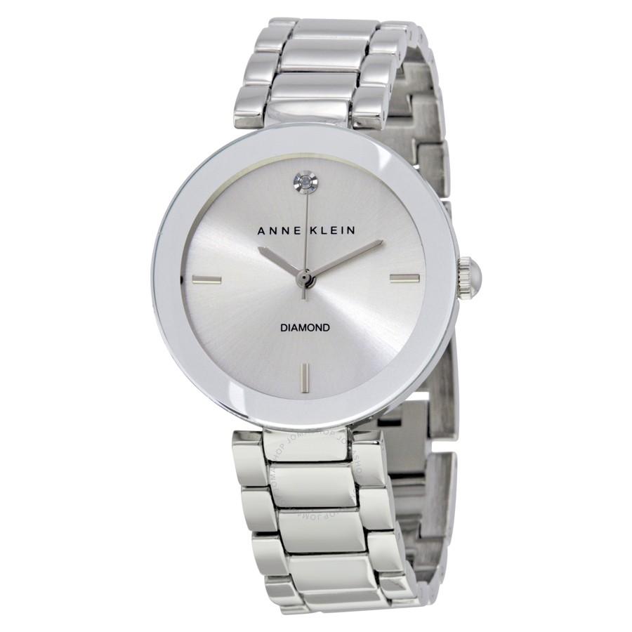 Anne-Klein-Women-AK1363SVSV-Diamond-Dial-Silver-Tone-Bracelet-Watch