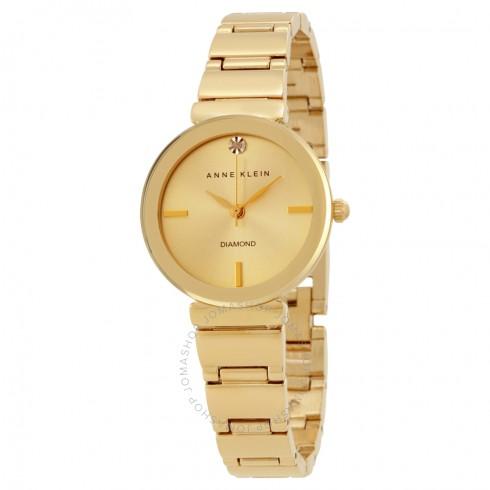 Anne-Klein-Women-AK2434CHGB-Diamond-Accented-Gold-Tone-Bracelet-Watch