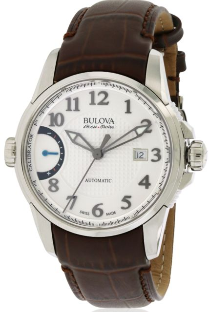 Bulova 63B171 AccuSwiss Calibrator Leather Automatic Mens Watch