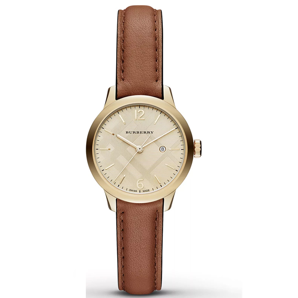 Burberry-BU10101-Champagne-Check-Stamped-Dial-Brown-Leather-Ladies-Watch