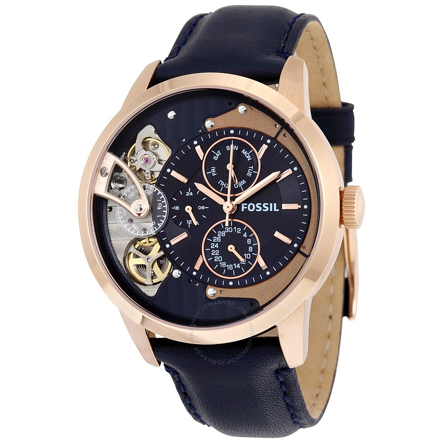 Fossil-ME1138-Townsman-Multi-Function-Navy-Blue-Dial
