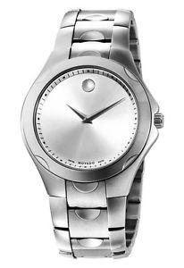 Movado Luno Sport Mens Silver Dial SS Swiss Quartz Watch 0606379