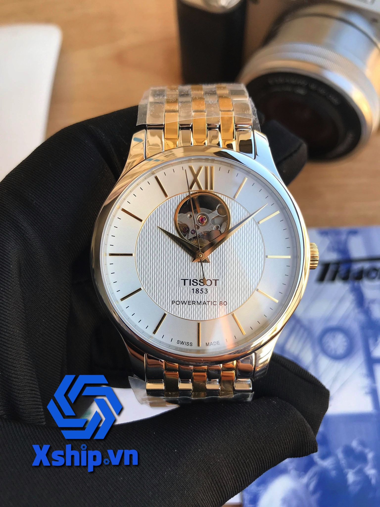 Tissot Tradition Powermatic 80 Open Heart T063.907.22.038.00 (T0639072203800)