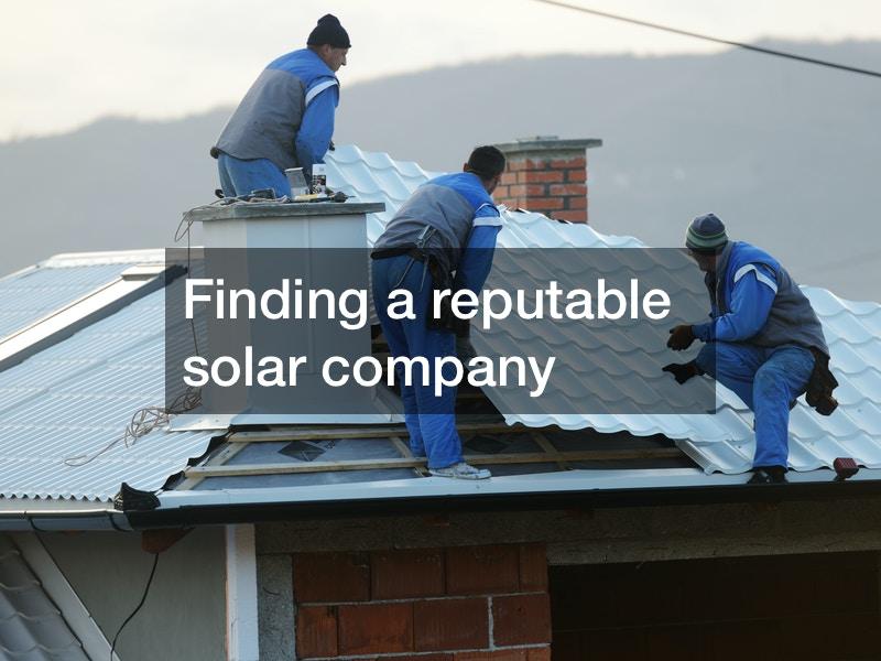 reputable solar company