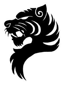 Tiger head logo design 02 by scottvisnjic