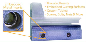 Embedded metal inserts