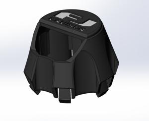 Fj crusier spare hub cap with cam cutout