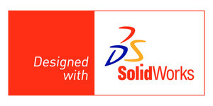Designed with solidworks logo