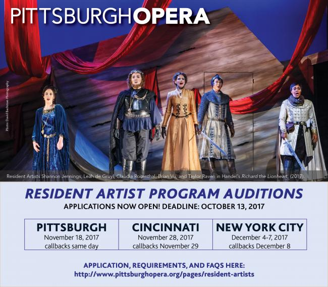 YAP Tracker :: Last Chance to apply for the Pittsburgh Opera