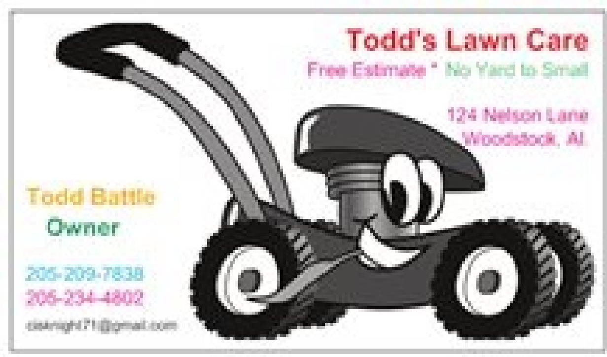 Todds lawn care