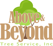 Above and beyond tree service logo