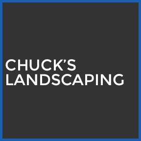 Chuck's landscaping square logo