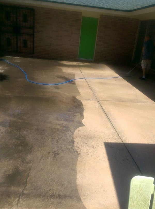 Pac pressure washing example 2   thats some clean concrete