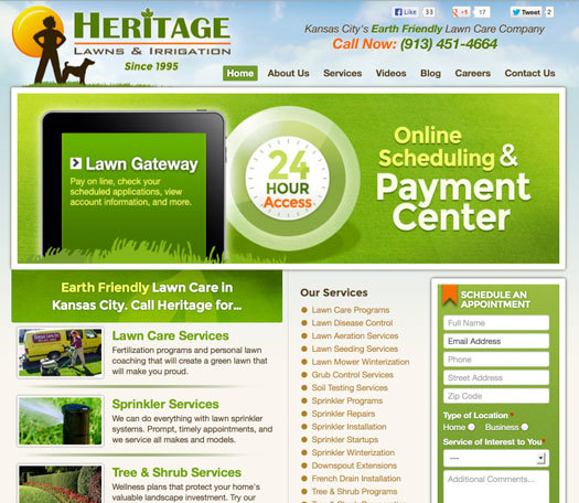 Heritage lawn services kansas city website
