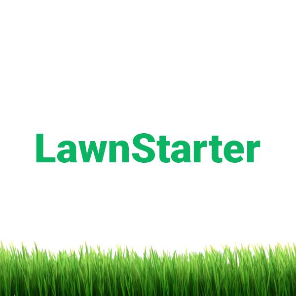 Lawnstarter logo with homescreen grass