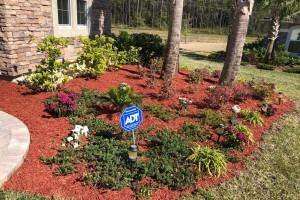 Residential landscaping flower beds
