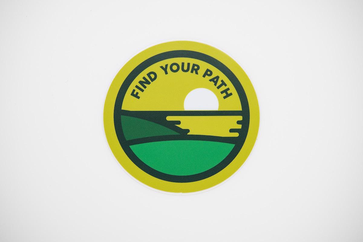 Find Your Path Sticker Hillside