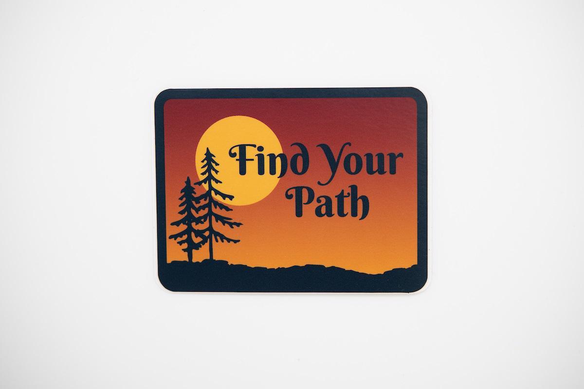 Find Your Path Sticker Sunset