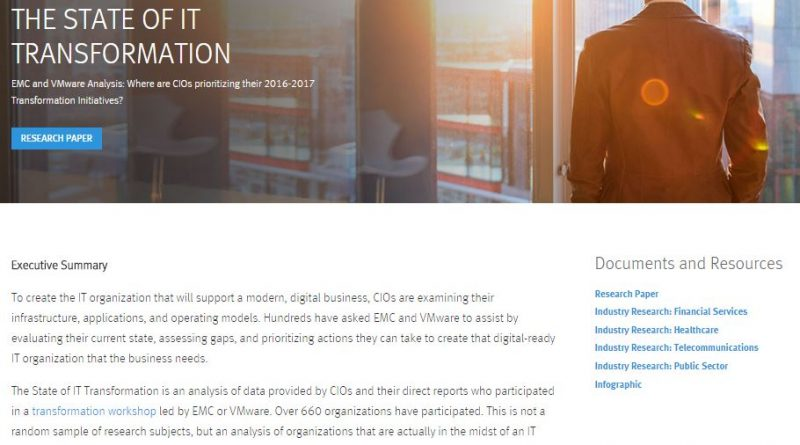 State of IT Transformation Research - EMC - YourDailyTech
