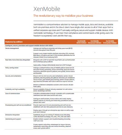 XenMobile Datasheet - YourDailyTech
