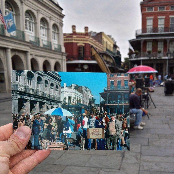 FJackson Square in New Orleans | Februar 1978 & April 2014 Quelle: pastpresentproject.com/