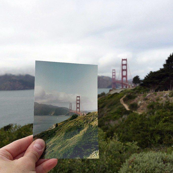 Golden Gate Bridge - April 1979 & Mai 2015 Quelle: pastpresentproject.com/
