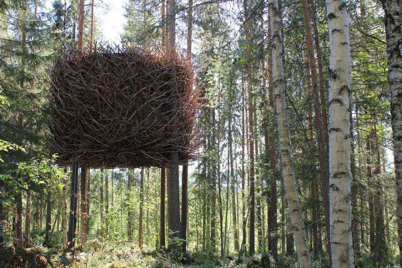 Vogel Nest Baumhaus (The bird's nest) in Schweden | Quelle: http://inredningsgruppen.se/