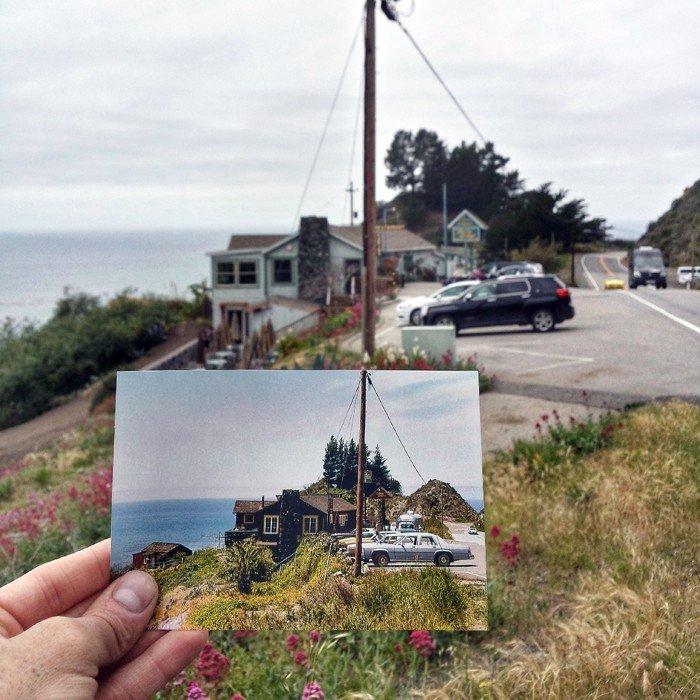 Lucia Lodge in Big Sur | April 1979 & Mai 2015 Quelle: pastpresentproject.com/