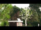 Schön leise: Windbaum produziert Strom