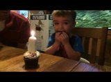 Kid Can't Blow Out Candle