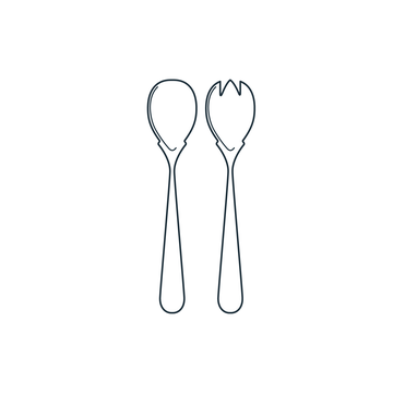 Serving Fork and Spoon