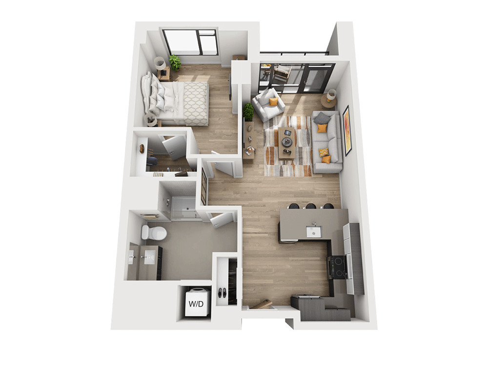 1 Bed, 1 Bath apartment in Boston, South End for $4,155