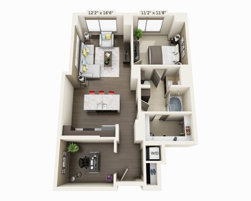 1 Bed, 1 Bath apartment in Boston, Seaport District for $3,519