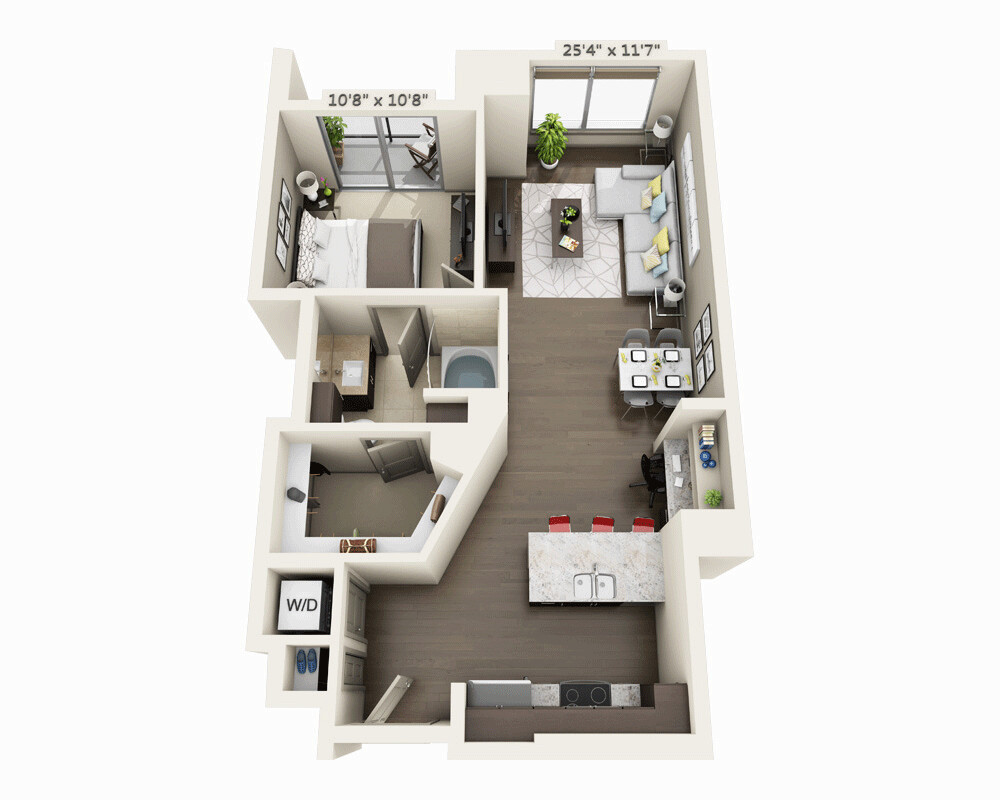 1 Bed, 1 Bath apartment in Boston, Seaport District for $3,709