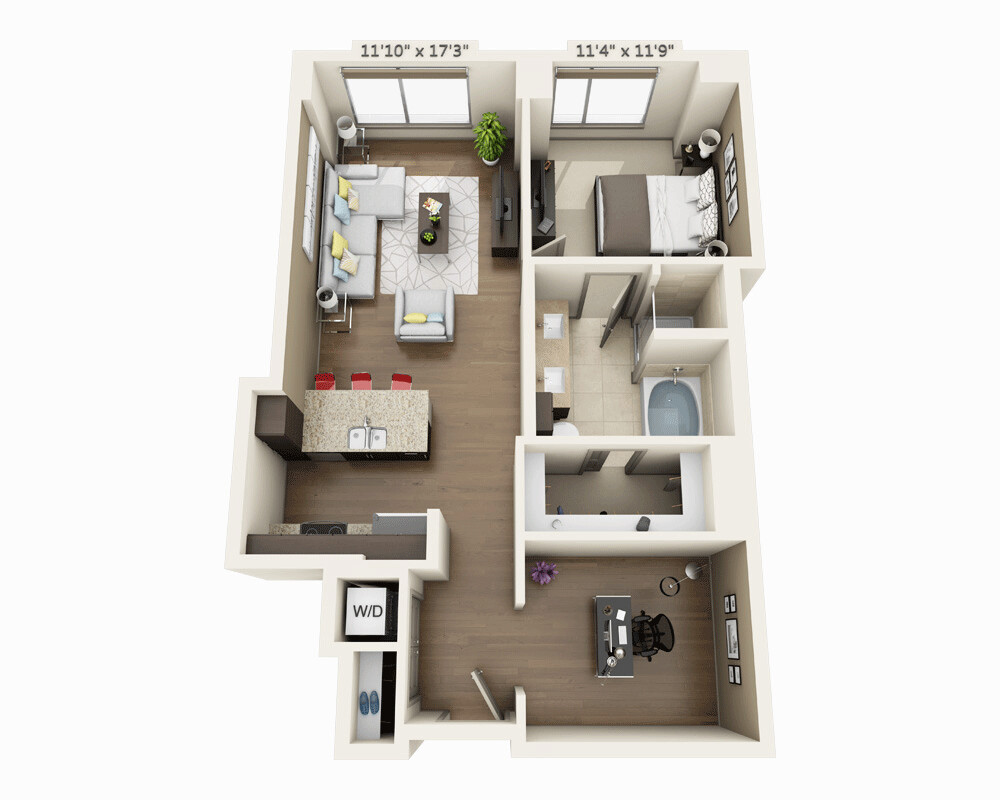 1 Bed, 1 Bath apartment in Boston, Seaport District for $4,091