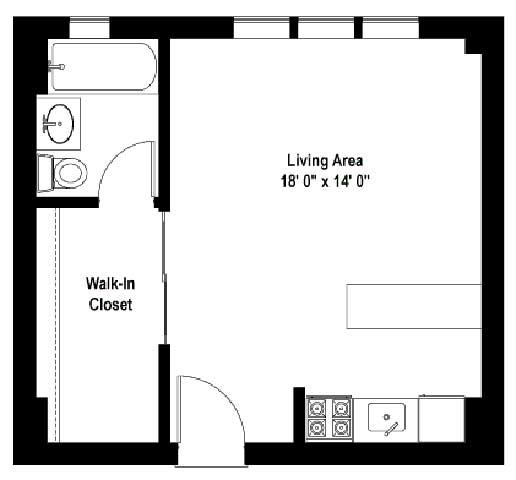 420 West Fullerton Pkwy., Chicago, IL - 1,376 USD/ month