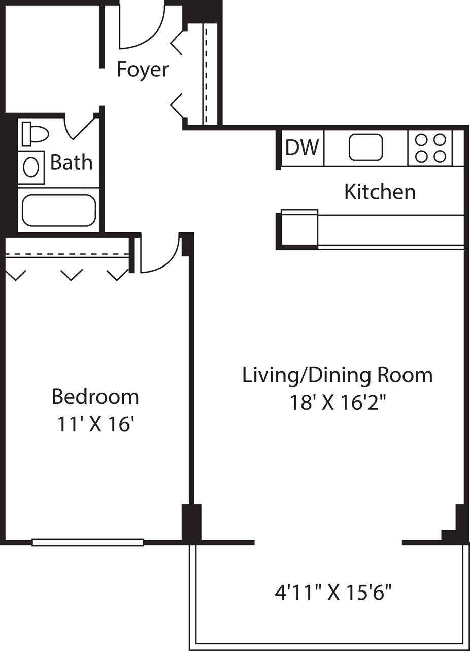 1 Bed, 1 Bath apartment in Boston, West End for $2,000