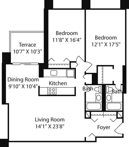 2 Beds, 2 Baths apartment in Boston, West End for $3,580