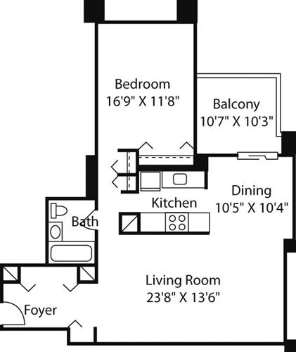 1 Bed, 1 Bath apartment in Boston, West End for $3,190