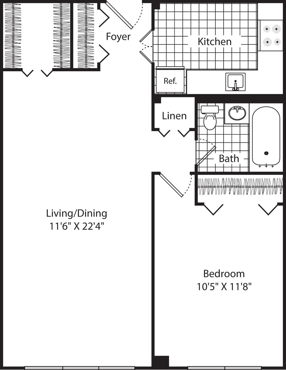 1 Bed, 1 Bath apartment in Cambridge for $1,795