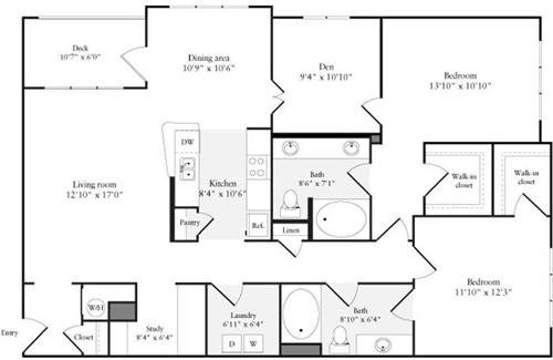 2 Beds, 2 Baths apartment in Quincy for $3,579