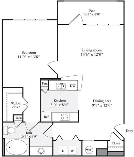 1 Bed, 1 Bath apartment in Quincy for $2,000
