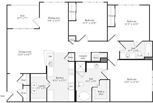 3 Beds, 2 Baths apartment in Quincy for $3,566