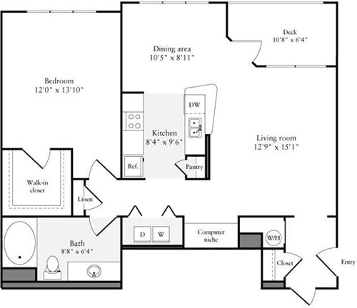1 Bed, 1 Bath apartment in Quincy for $2,475
