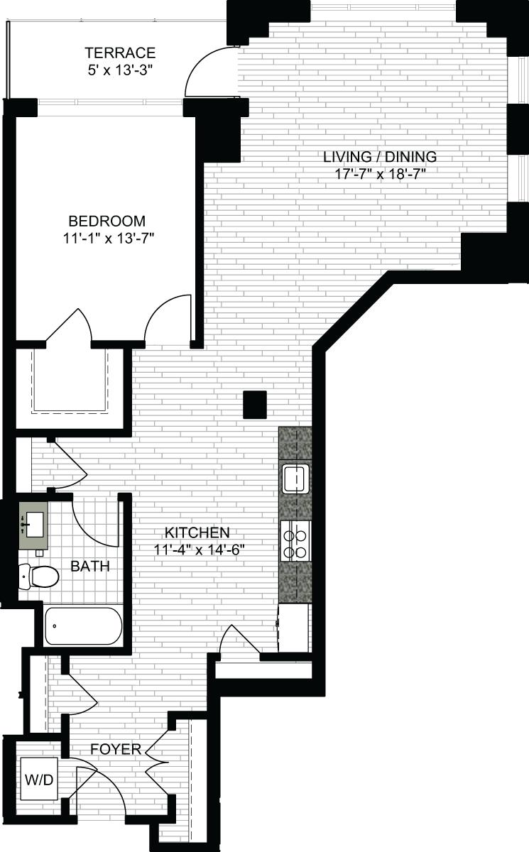 1 Bed, 1 Bath apartment in Boston, North End for $3,015