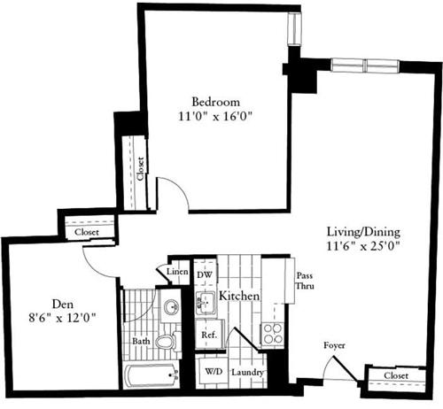 1 Bed, 1 Bath apartment in Waltham for $2,125