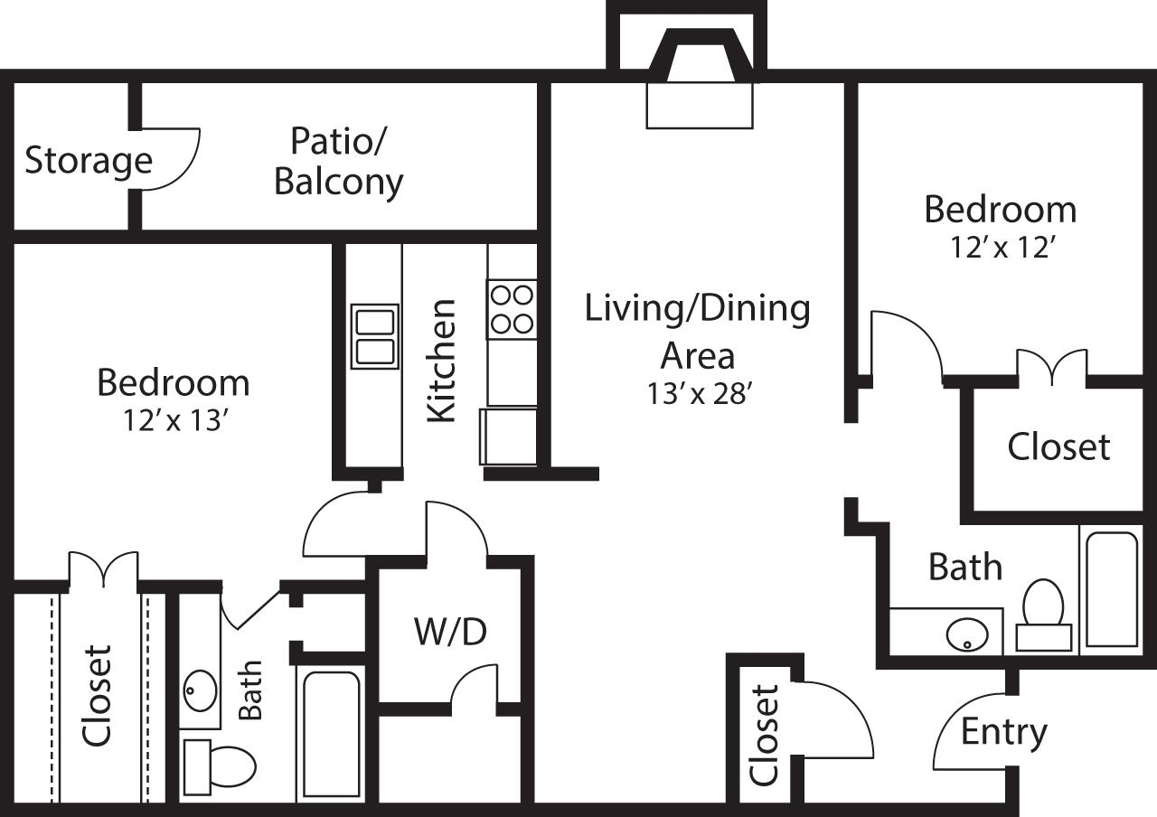 2 Beds, 2 Baths apartment in Quincy for $2,420