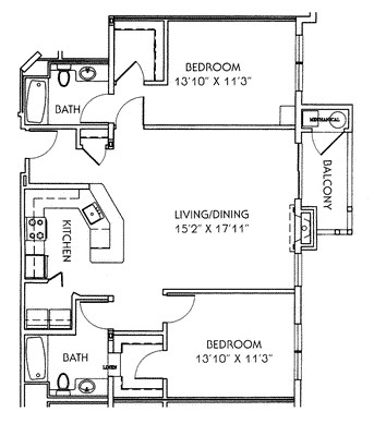 2 Beds, 2 Baths apartment in Quincy for $2,701