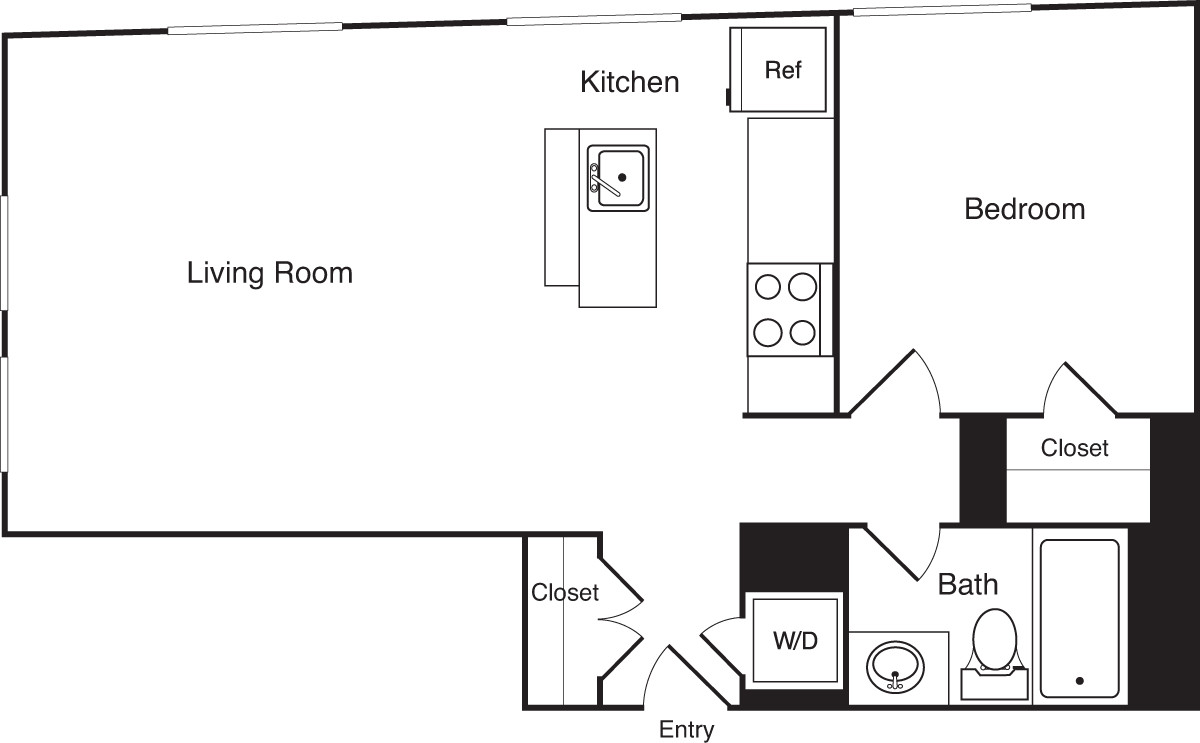 1 Bed, 1 Bath apartment in Boston, Financial District for $2,990