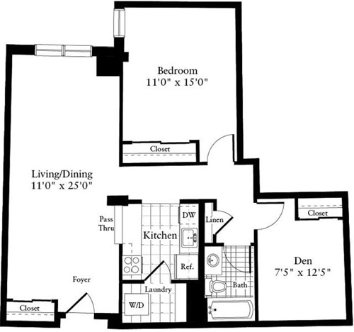 1 Bed, 1 Bath apartment in Waltham for $2,315